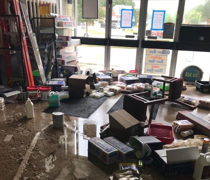 Storm Floods Caused Water Damage to Commercial Property Before