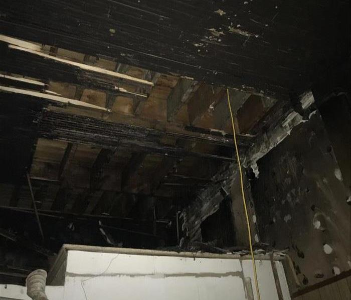 Fire Damaged Ceiling in a local Restaurant  Before