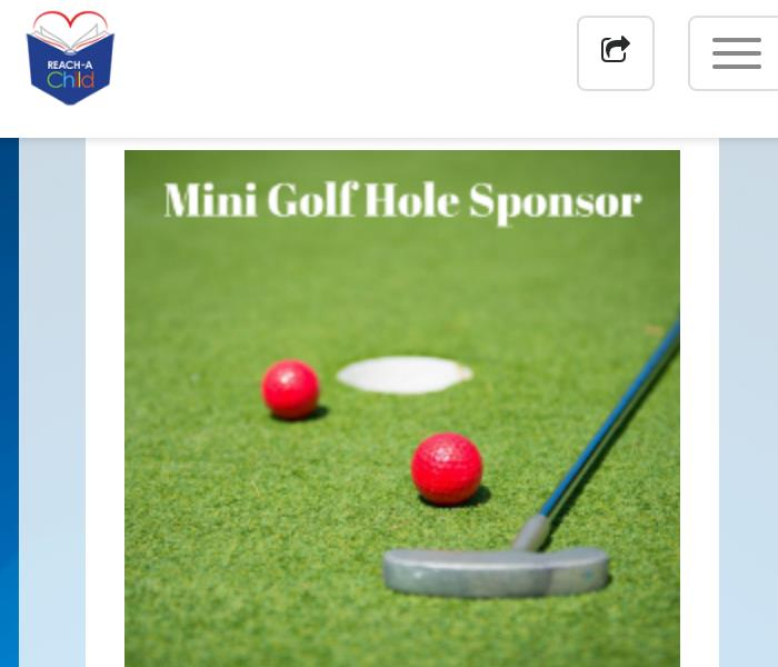 REACH-A-Child Putt-Putt fore kids sponsor
