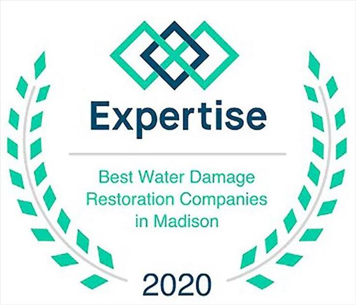 expertise logo saying best water damage companies in Madison, WI