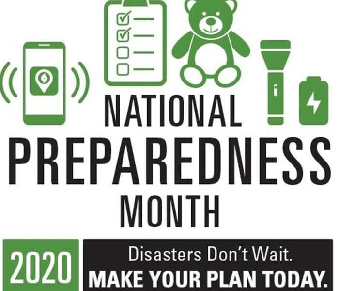 2020 National Preparedness Month Logo - Disasters Don't Wait. Make Your Plan Today.