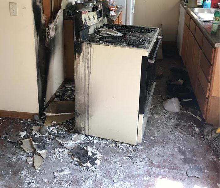 Fire Damage  Kitchen Cautions